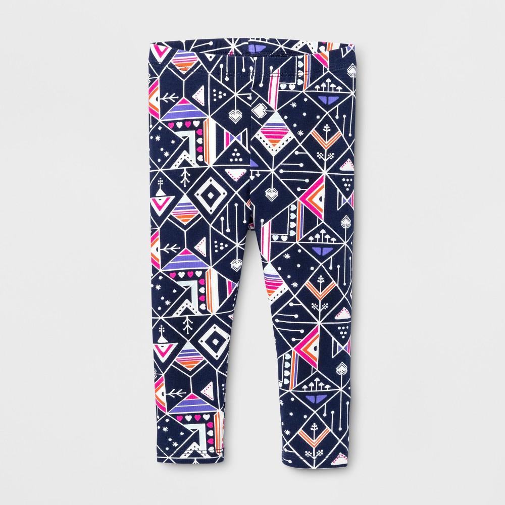 Toddler Girls' Leggings pants - Cat & Jack Navy 2T, Blue