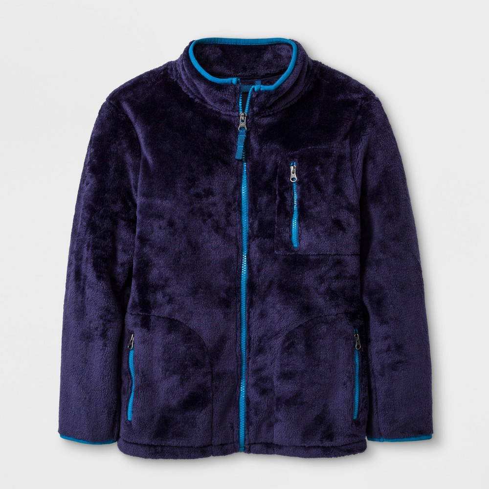 Boys Hooded Sweatshirt - Cat & Jack Blue XS