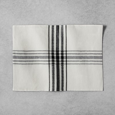 Woven Plaid Placemat - Cream/Black - Hearth & Hand™ with Magnolia