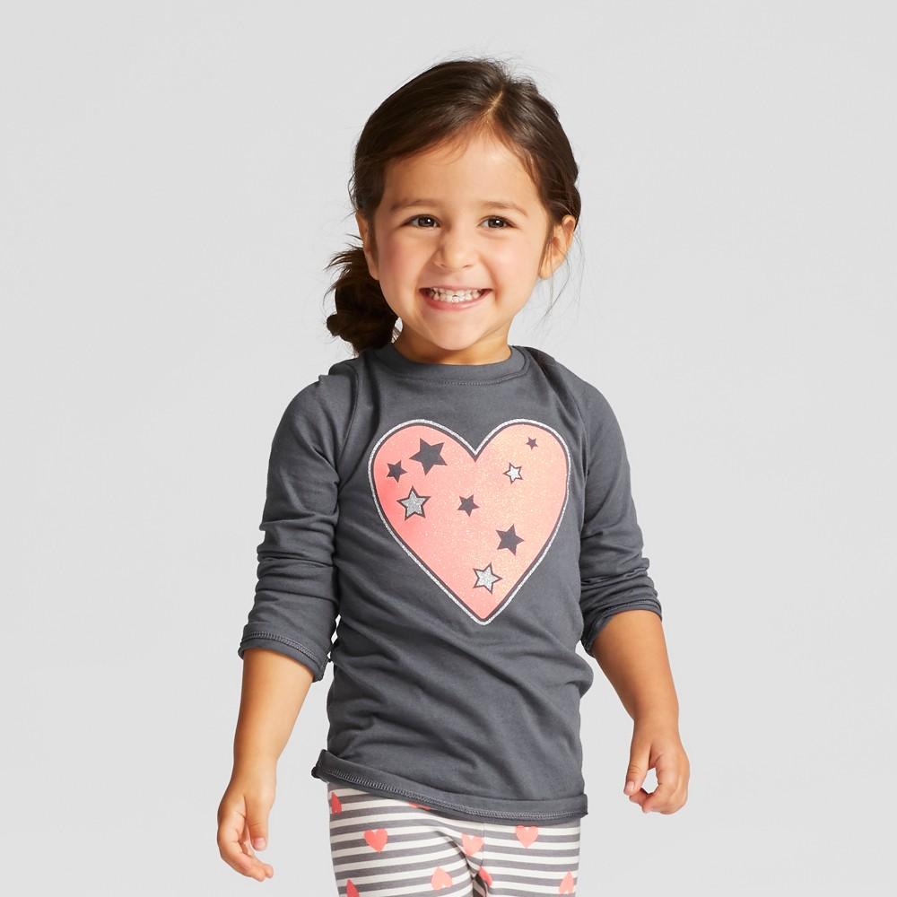 T-Shirt Turbine Gray 18 M, Toddler Girls, Blue