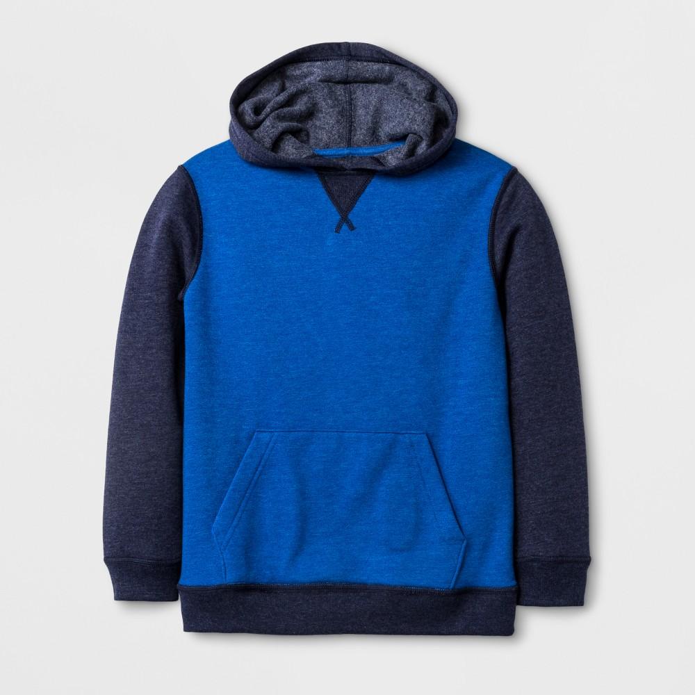 Boys Adaptive Fleece Sweatshirt - Cat & Jack Blue XL