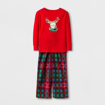 Toddler Boys' Reindeer Pajama Set - Cat & Jack™ Red 12M