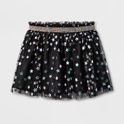 Toddler Girls' Star Tutu Skirt - Cat & Jack™ Black12 M