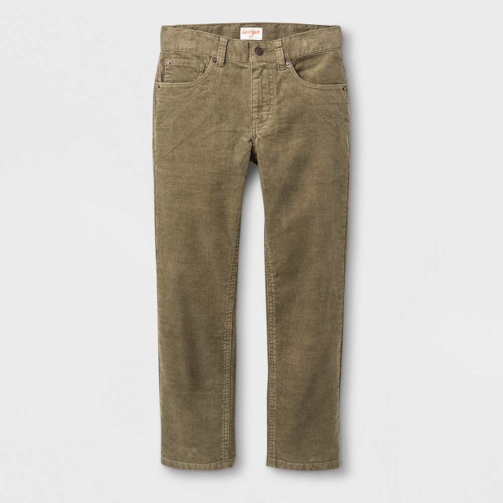 Boys 5-Pocket Chino Pants - Cat & Jack Ivy Green 16 Husky