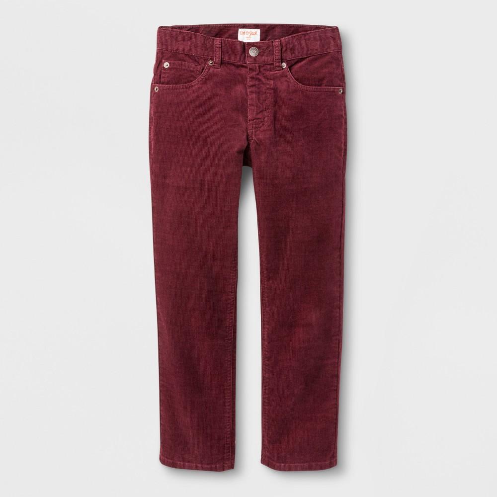 Boys 5-Pocket Chino Pants - Cat & Jack Cabernet Red 16 Husky