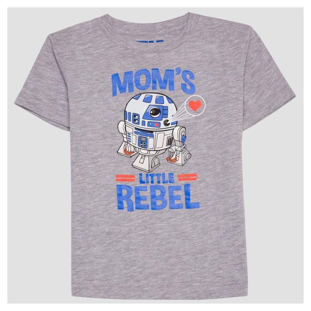 Toddler Boys Star Wars Short Sleeve T-Shirt - Heather Gray 3T