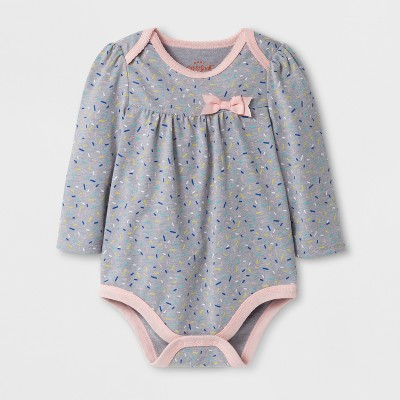 Baby Girls' Sprinkles Bodysuit - Cat & Jack™ Gray NB