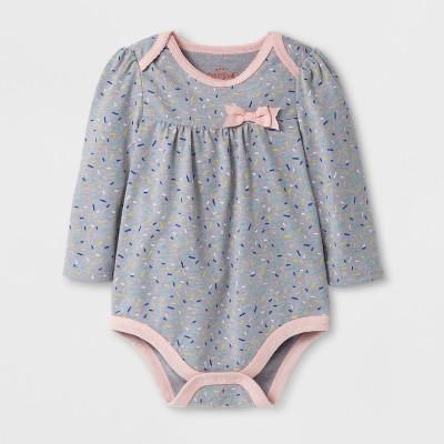 Baby Girls' Sprinkles Bodysuit - Cat & Jack™ Gray NB