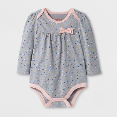 Baby Girls' Sprinkles Bodysuit - Cat & Jack™ Gray 6-9 M