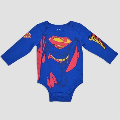 Warner Bros. Baby Boys' Superman Bodysuit - Blue 0-3M