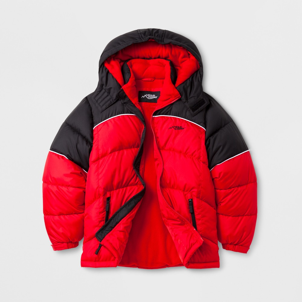 Minus Zero Boys Puffer Jacket - Red L