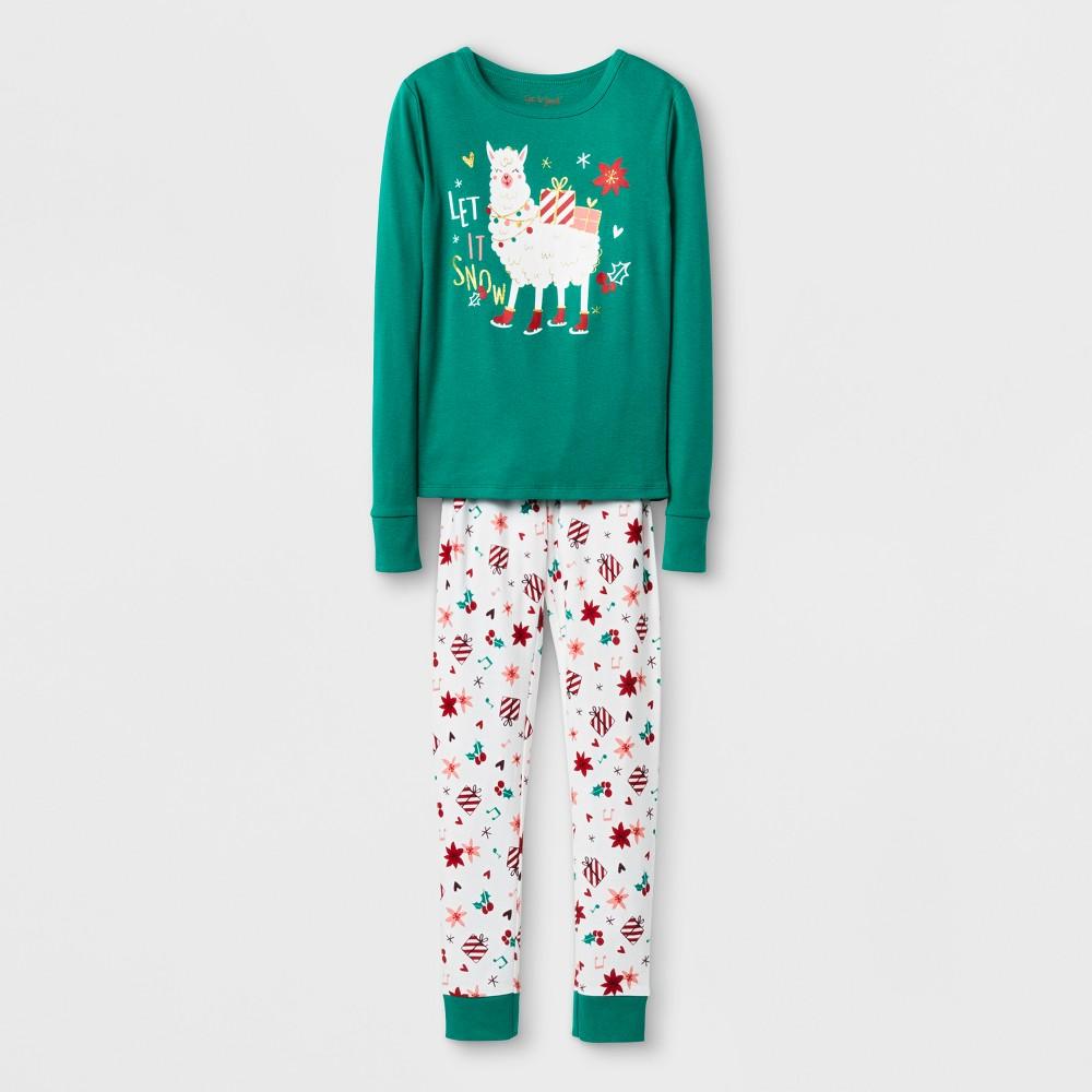 Girls Pajama Set - Cat & Jack Green 6