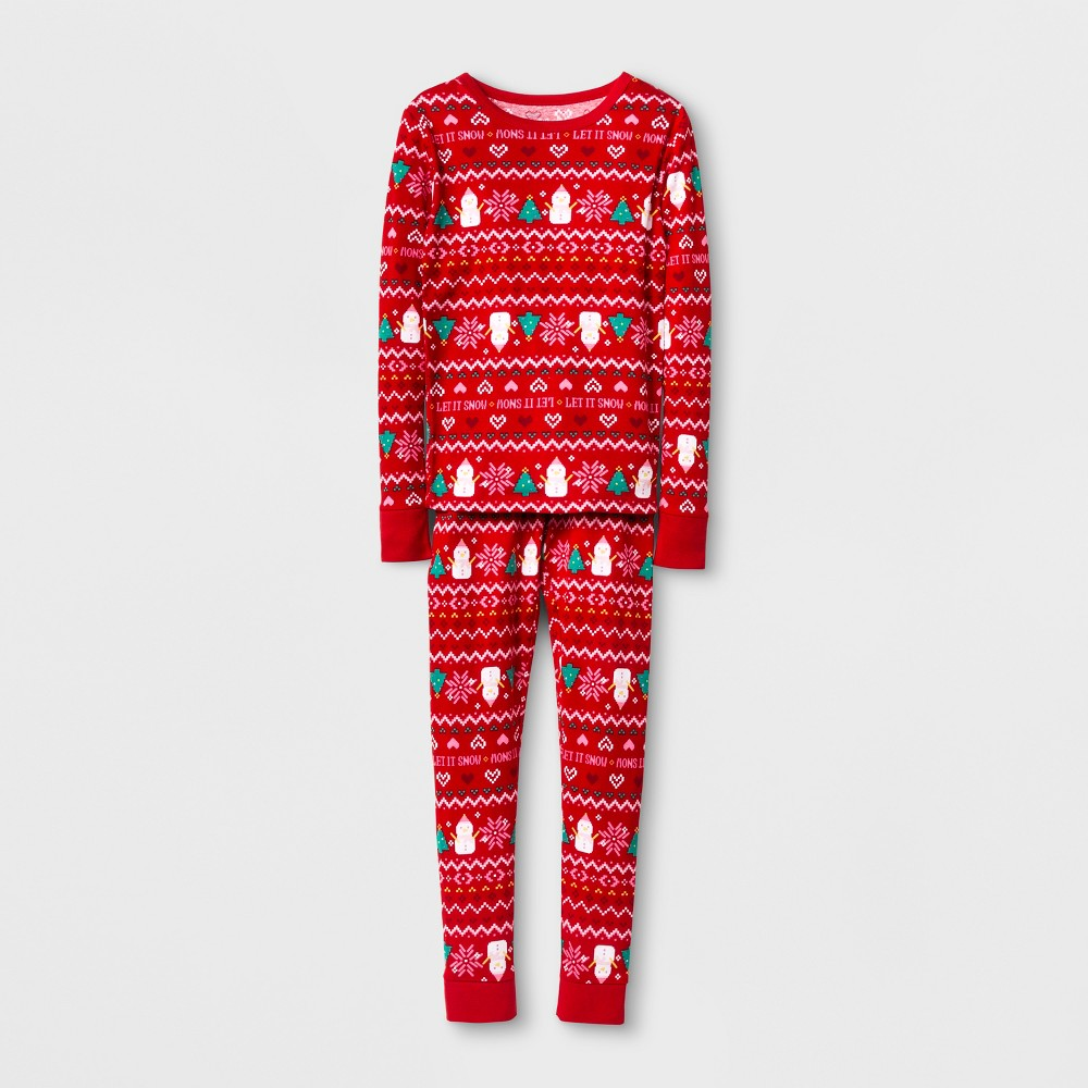 Girls Pajama Set - Cat & Jack Wowzer Red 8