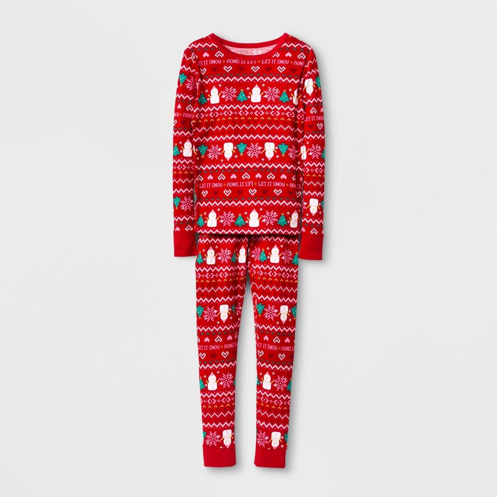 Girls Pajama Set - Cat & Jack Wowzer Red 4