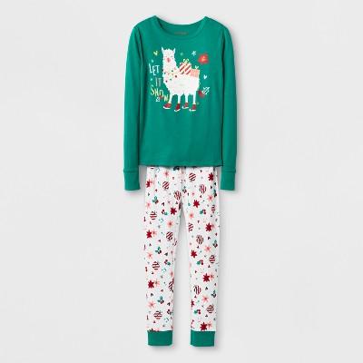 Girls' Pajama Set - Cat & Jack™ Green 10