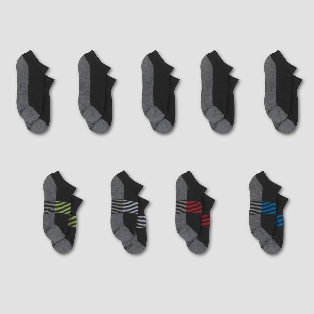 Boys Hanes Premium 9pk Socks - Black S