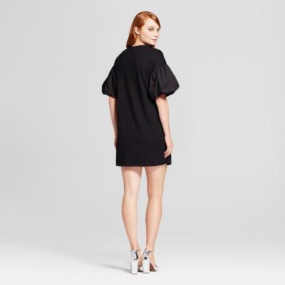 Black dress quarter sleeve muscular