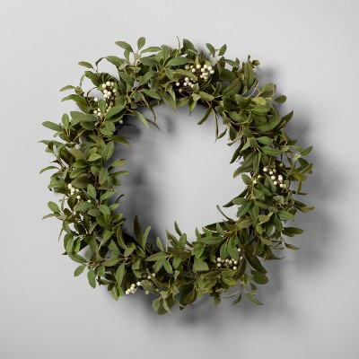 Artificial Lamb Ear and White Berry Wreath (24 )- Hearth & Hand™ with Magnolia