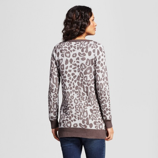 Maternity Leopard Print Sweater - Isabel Maternity by Ingrid ...