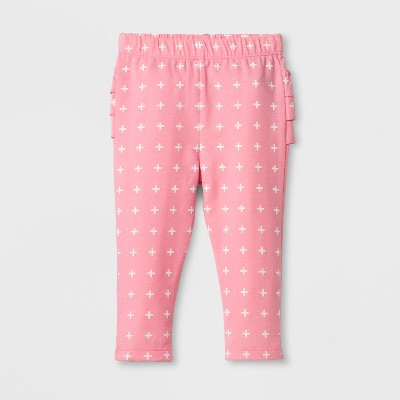 Baby Girls' Ruffle Leggings - Cat & Jack™ Pink 0-3 M
