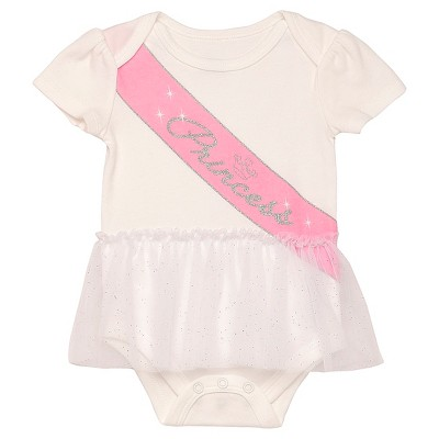 Baby Girls' Princess Sash Bodysuit - White 6M