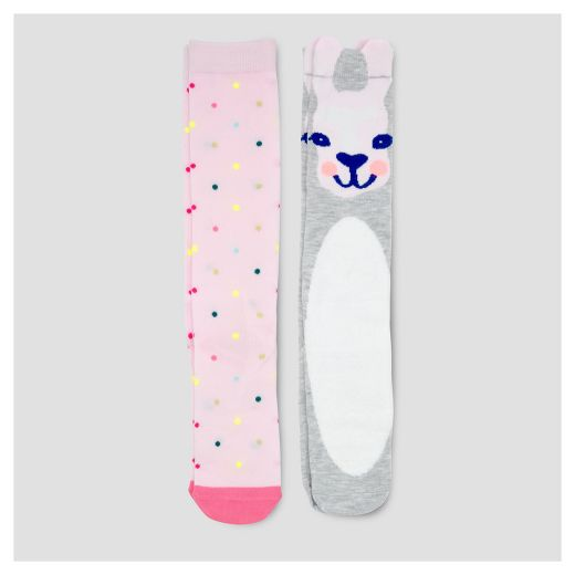 Girls' Knee High Socks 2pk Cat & Jack™- Multicolored