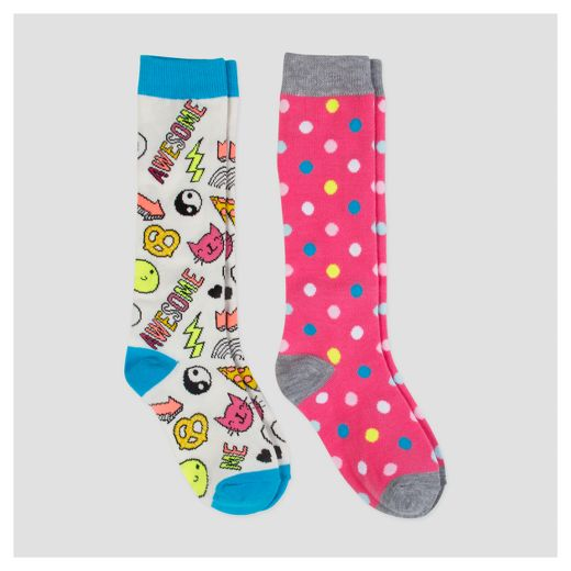 Girls' Knee High 2pk Socks - Cat & Jack™ Pink
