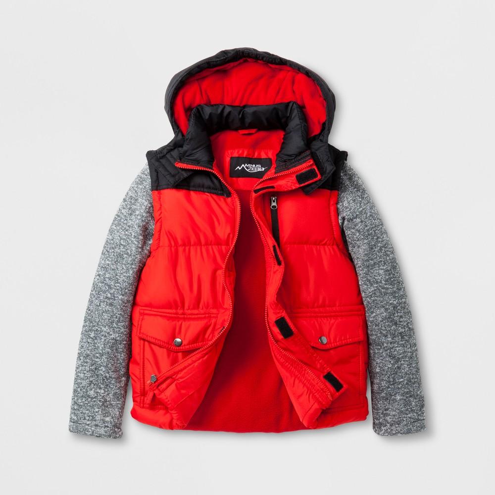 Minus Zero Boys Puffer Jacket - Red L