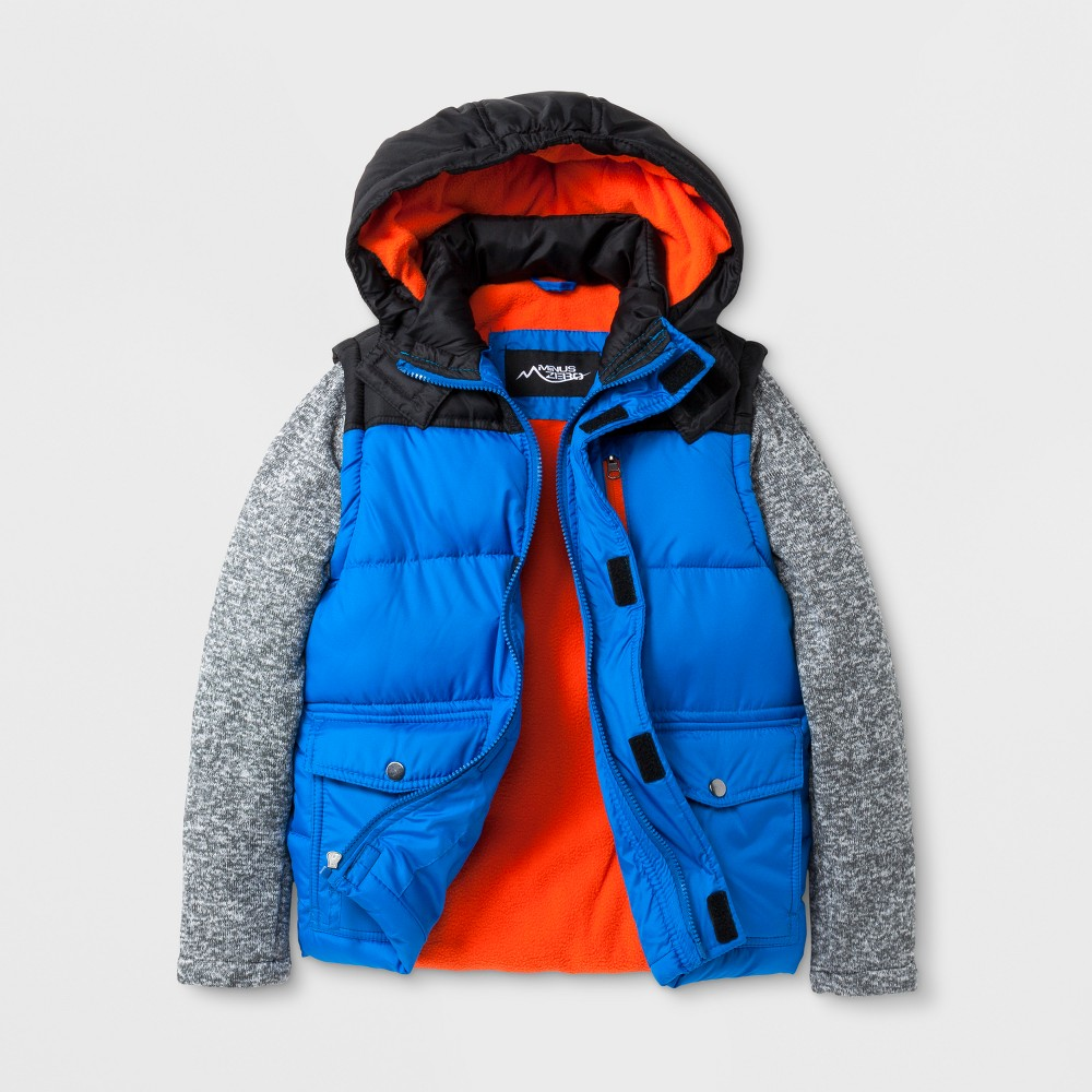 Minus Zero Boys Puffer Jacket - Blue L