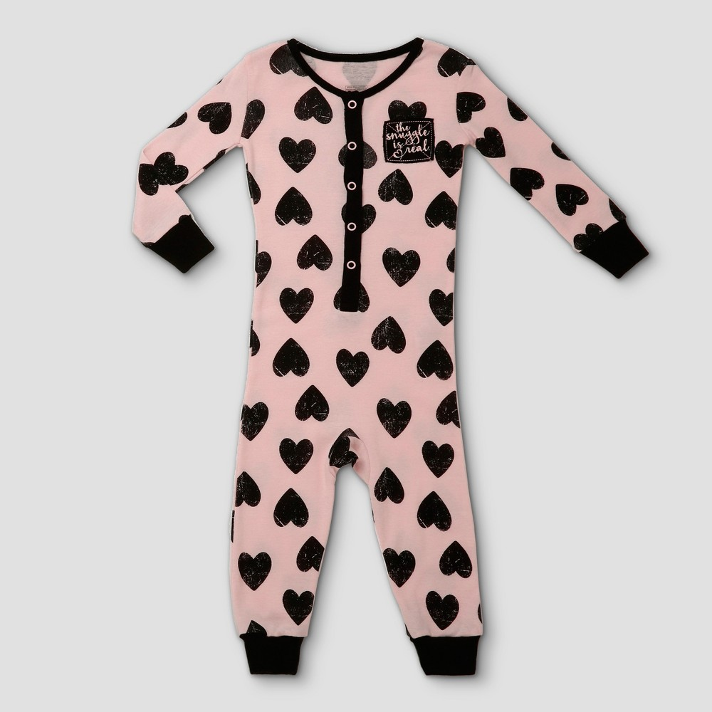Toddler Girls Candlesticks Union Suit 18m - Pink, Size: 18 M