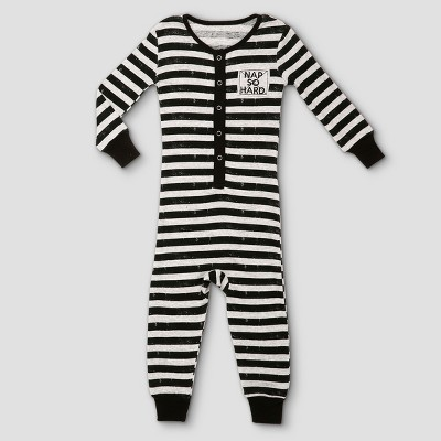 Toddlers' Candlesticks Union Suit 18m - Heather Gray
