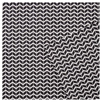 Chevron Microfiber Sheet Set - Black (Queen)