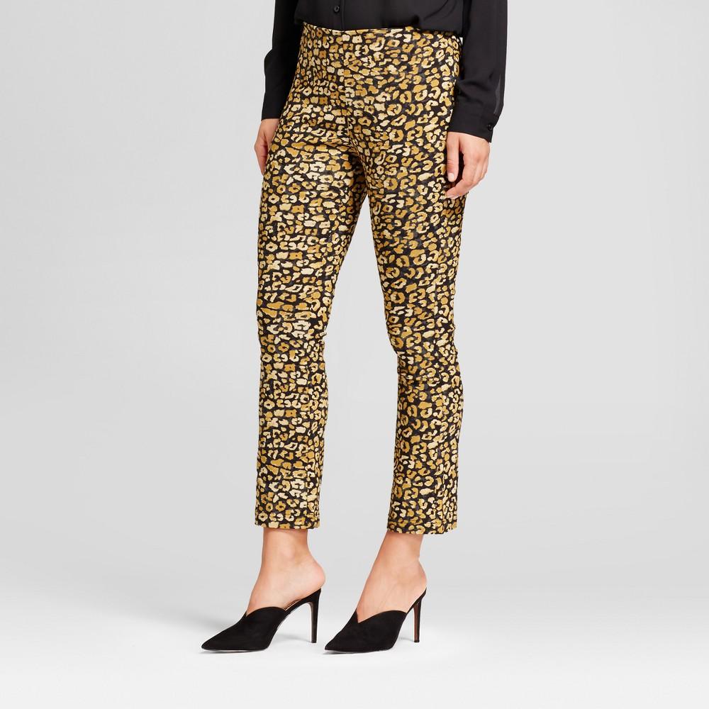 Womens Crop Flare Pants - Who What Wear Yellow Cheetah 6