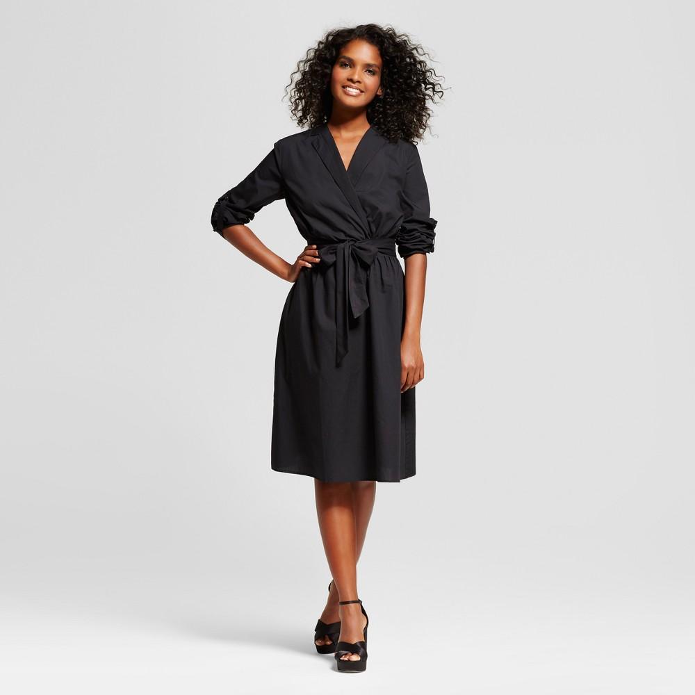 Womens Wrap Dress - Who What Wear Black Xxl