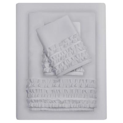 6pc Sheet Sets Gray Non-Woven Fabric California King
