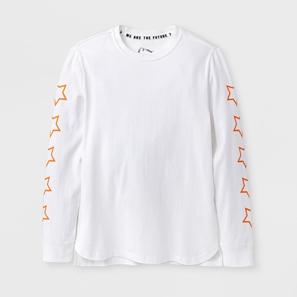 Boys Long Sleeve Limited Edition T-shirt - Art Class White L