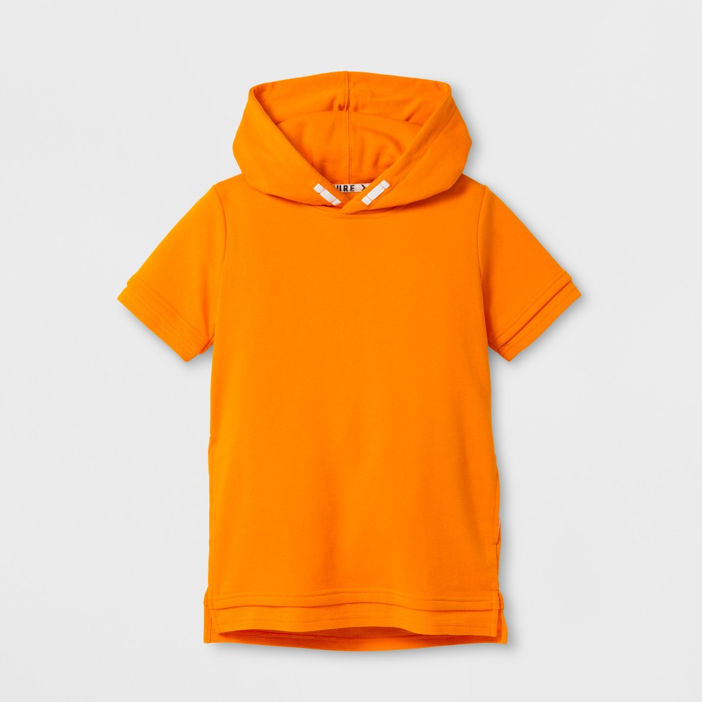 Boys Short Sleeve Hooded T-Shirt - Art Class Orange S