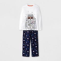 Boys' Long Sleeve Astronaut Wolf Pajama Set - Cat & Jack™ White