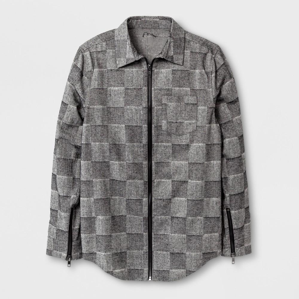 Boys Long Sleeve Button Down Shirt - Art Class Heather Gray L