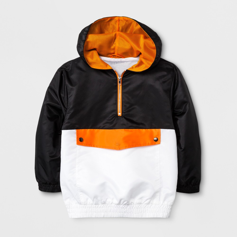 Boys Coloblock Windbreaker Jacket - Art Class Black S