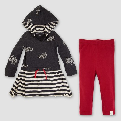 Top And Bottom Sets Burt's Bees Baby Black Heather Cranberry 6-9 M