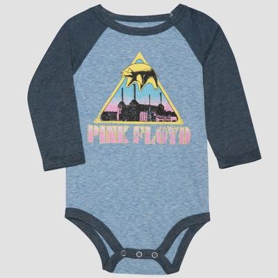 Pink Floyd Baby Boy Long Sleeve Bodysuit - Gray/Blue 0-3M
