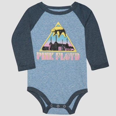 Pink Floyd Baby Boy Long Sleeve Bodysuit - Gray/Blue 6-9M