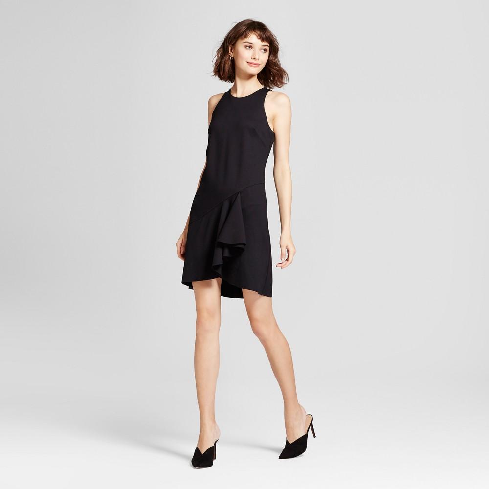 Womens Asymmetrical Ruffle Dress - Mossimo Black XS