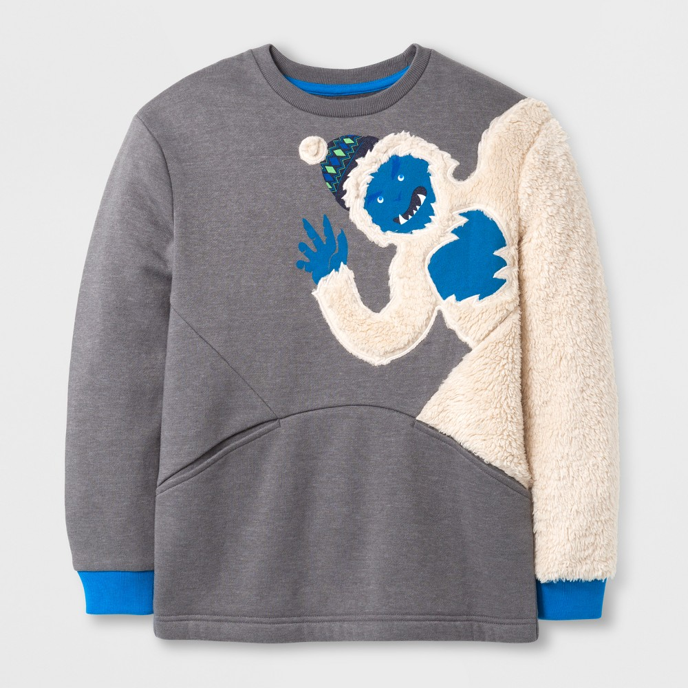 Boys Long Sleeve Sweatshirt - Cat & Jack Gray XS
