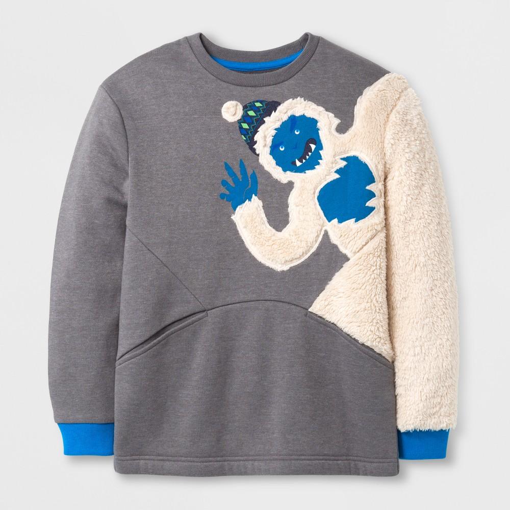 Boys Long Sleeve Sweatshirt - Cat & Jack Gray XL