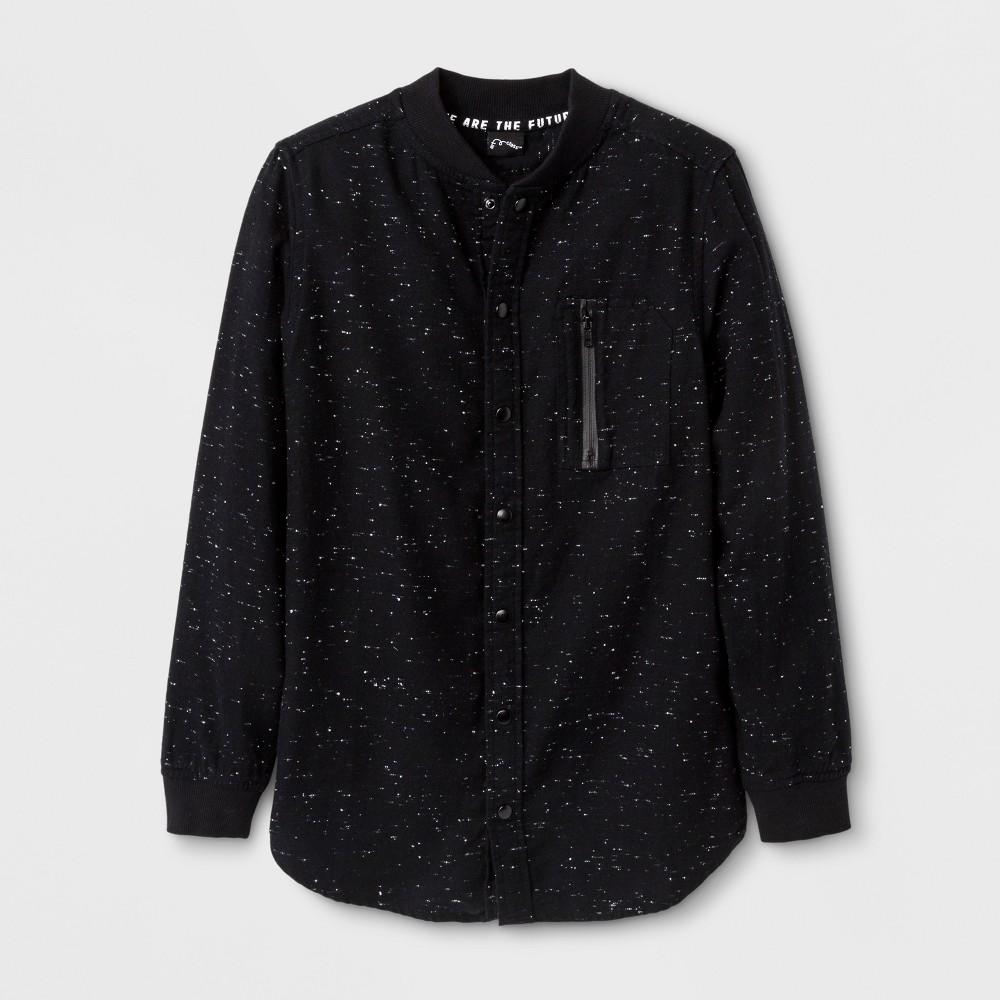 Boys Long Sleeve Button Down Shirt - Art Class Black S