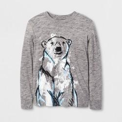 Boys' Long Sleeve Graphic T-Shirt - Cat & Jack™ Gray
