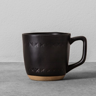 Stoneware X Mug 14oz - Black - Hearth & Hand™ with Magnolia