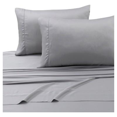 Tencel® Deep Pocket Solid Sheet Set (King)Silver Gray 300 Thread Count - Tribeca Living®